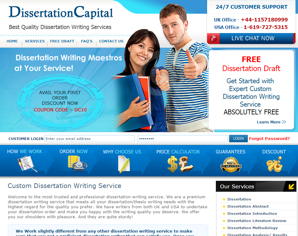 dissertation review service We are the thesis and dissertation writing consulting services industry leader 10+ years of experience 24/7 customer support verified reviews.